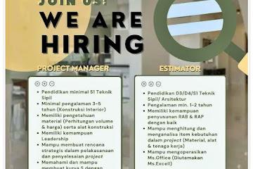 Lowongan Kerja Project Manager & Estimator Casamirah Bandung