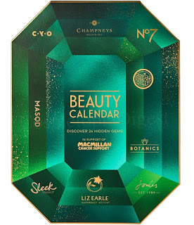 Boots Macmillan beauty advent calendar 2019 spoilers and contents