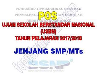 POS USBN Jenjang SMP/MTs Tahun Pelajaran 2017/2018