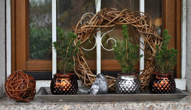Weihnachtseko Fensterbank