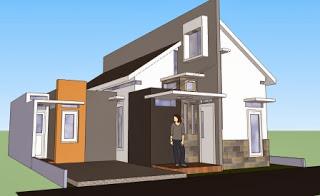 karena tren untuk rumah minimalis saat ini adalah desain rumah  Denah Rumah Modern 1 Lantai
