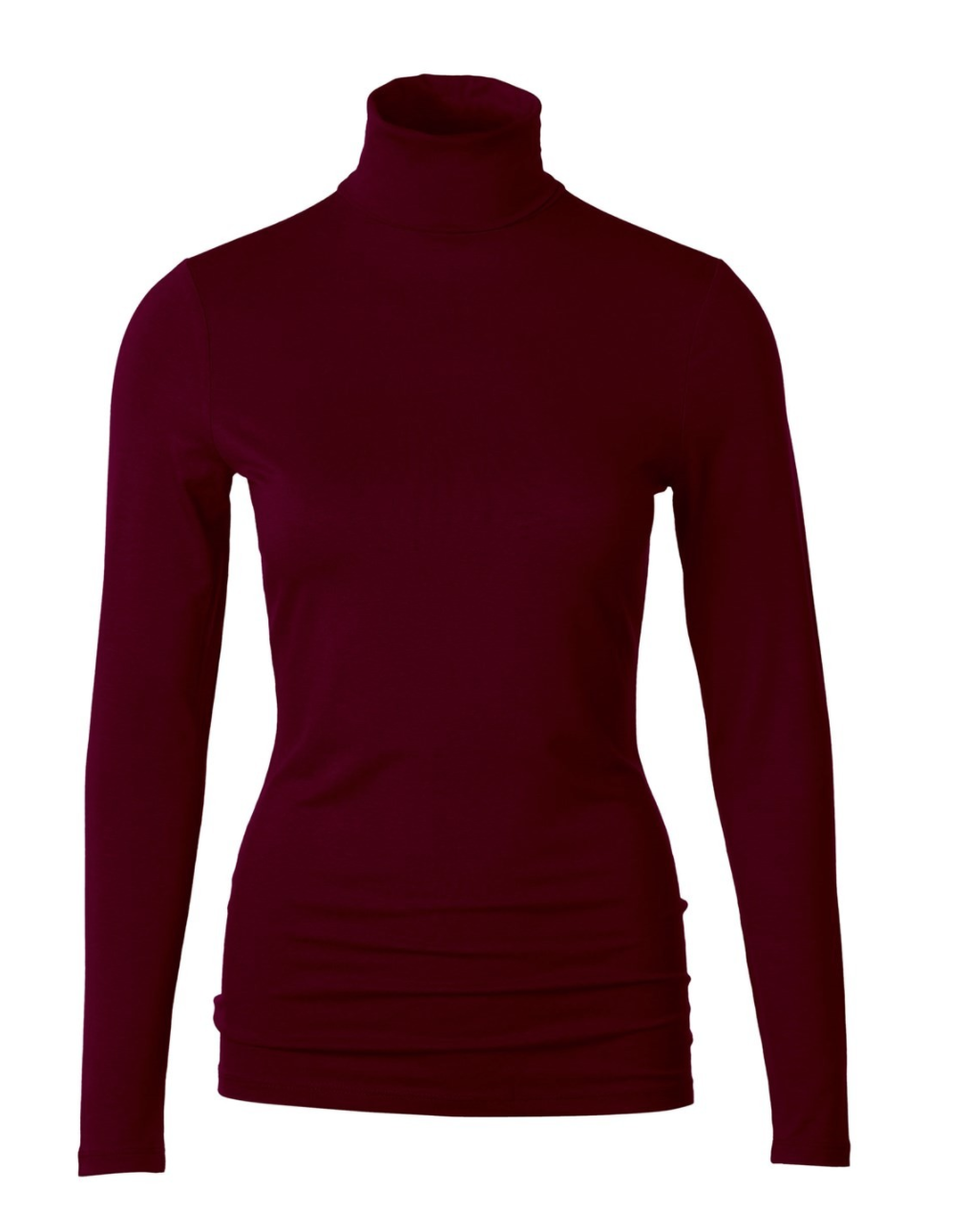 Deep Claret - Silky Roll Neck