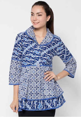 Model Baju Batik Kerja Bank Modern
