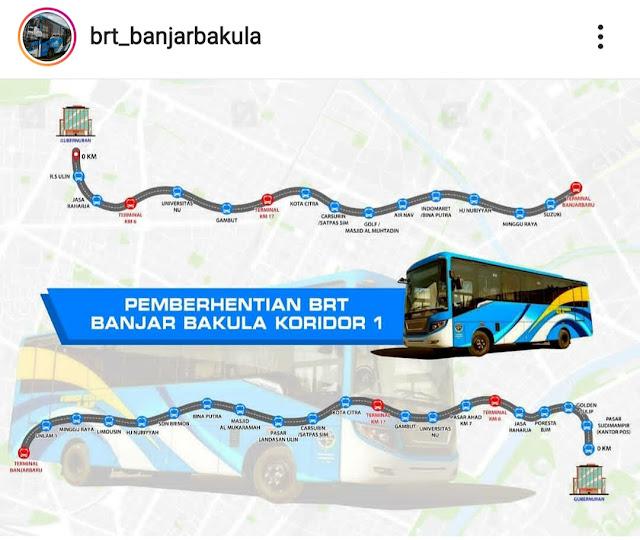 Rute BRT Banjar Bakula