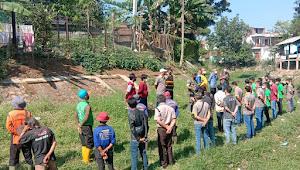Peringati World Cleanup Day, Satgas Sub 11 Sektor 22 Ajak Aparat Bongkar Sedimen Sungai Cipanjalu