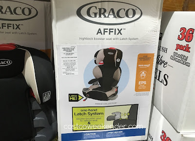 Keep your child safe when driving with the Graco Affix Highback Booster Seat with Latch System