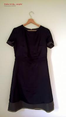 sukienka wełniana jane burda vintage