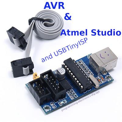 Using USBTinyISP programmer with Atmel Studio