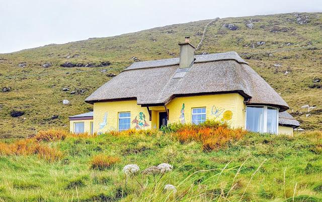 Thatched cottage on Valentia Island Ireland