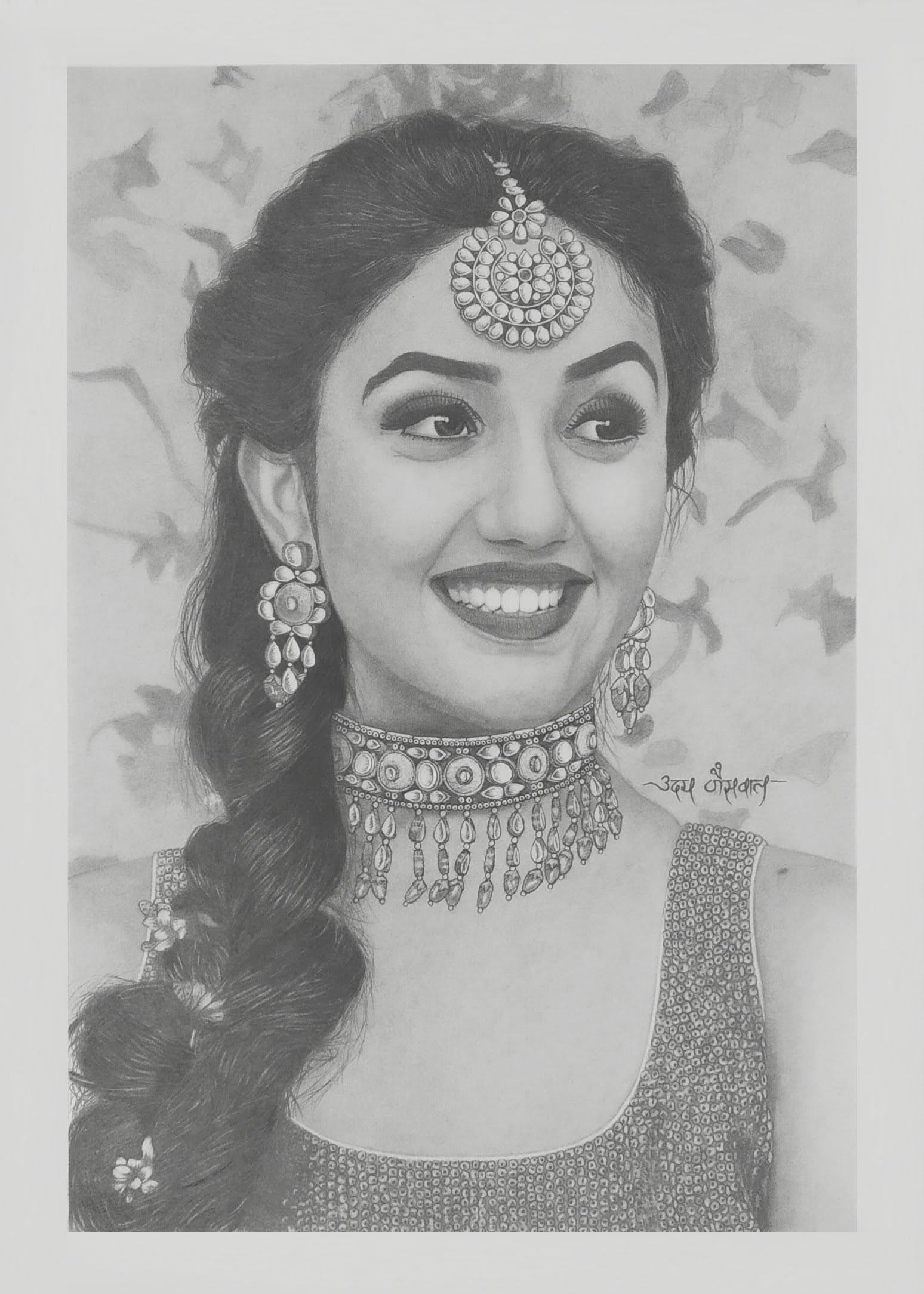 Ms. Ashnoor Kaur Bridal Shoot Realistic Portrait
