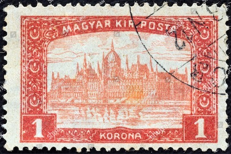 Classic Stamps And History Hungary 1916 Houses Of Parliament