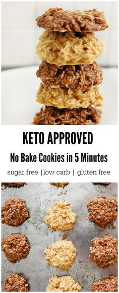 Keto No Bake Cookies In 5 Minutes!