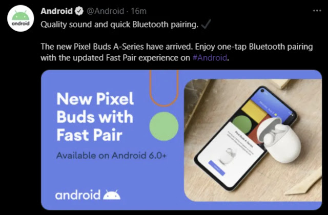 With a now-deleted tweet, Google prematurely reveals the 'Pixel Buds A-Series'