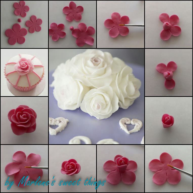 Rosen Tutorial Mit Dem 5 Petal Flower Cutter Marlenes Sweet Things