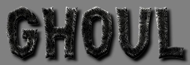 Text Effect Tutorials: A horror ghoul text logo effect