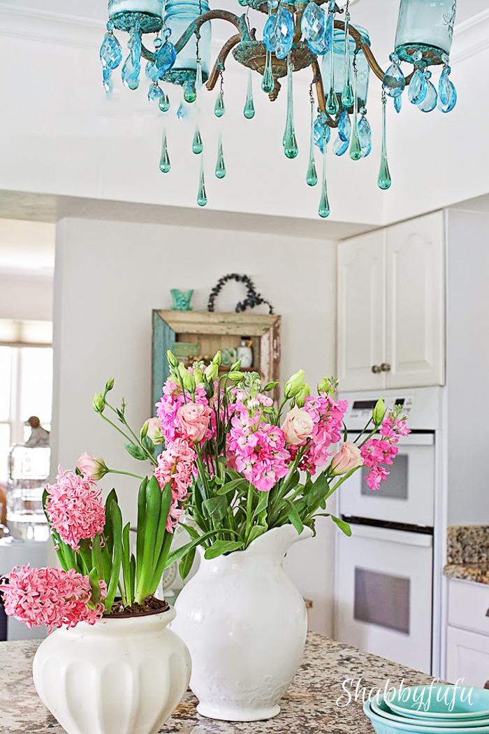 pretty vintage white kitchen