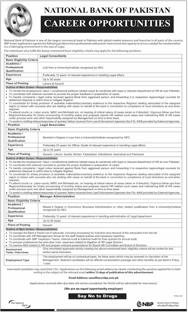 National Bank of Pakistan Jobs Latest Advertisement Apply Online