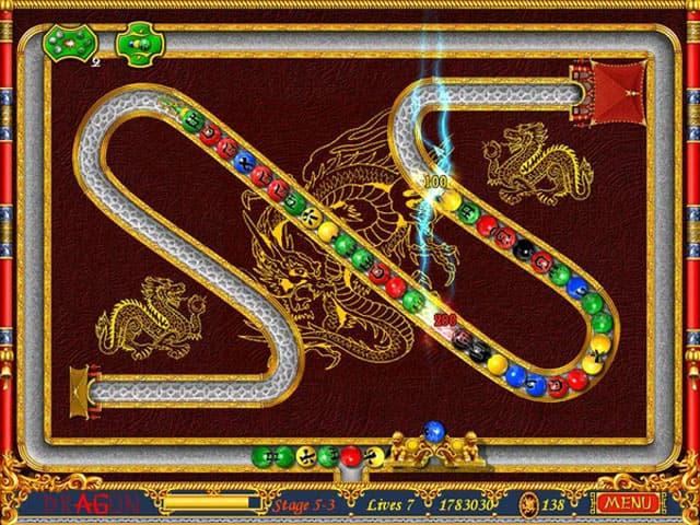 لعبة اطلاق الكرات الملونة دراجون بابلز Dragon Bubbles