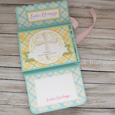 This simple and easy Easter Mini Album/Card, was created with the Envelo-Box Die.  A few simple adjustments to the basic die cut, creates the album base.  Video tutorial of how to assemble the Envelo-Box included.