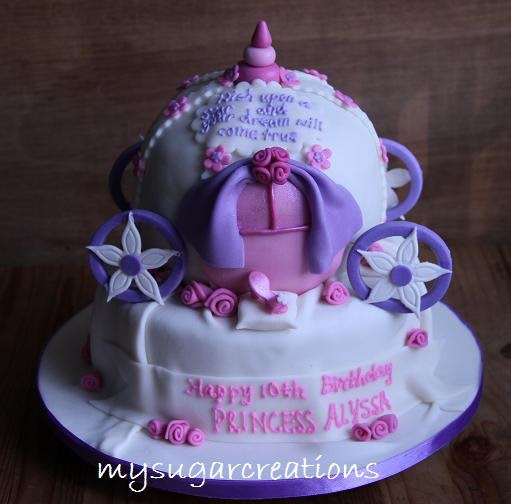 My Sugar Creations 001943746 M Cinderella Carriage Cake