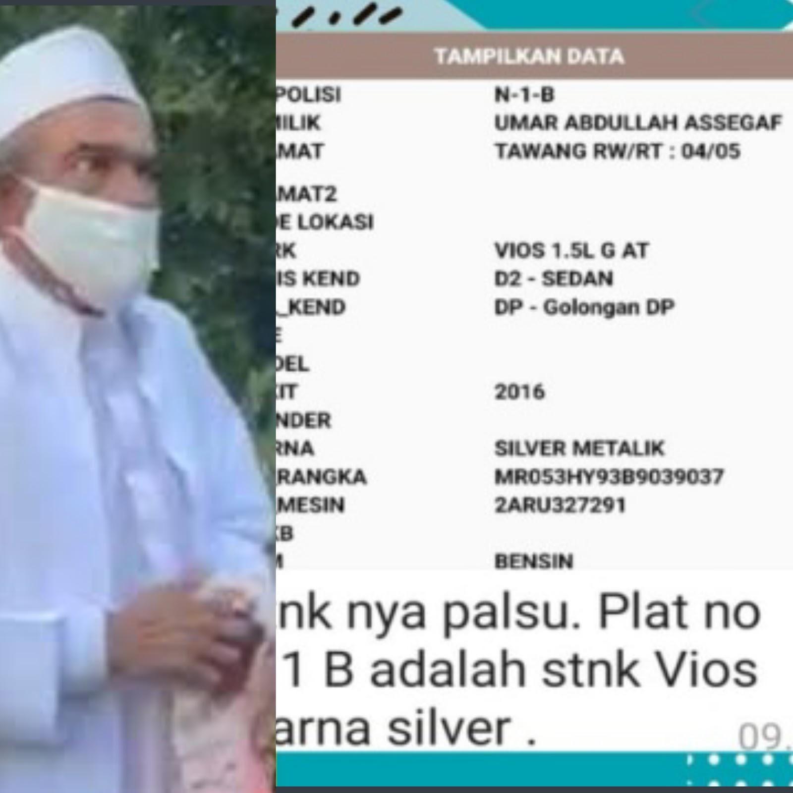 Allah Tunjukkan Kebenaran Lewat Plat Mobil Habib Umar
