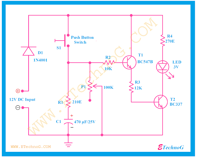 Timer Switch Circuit Diagram, timer light circuit