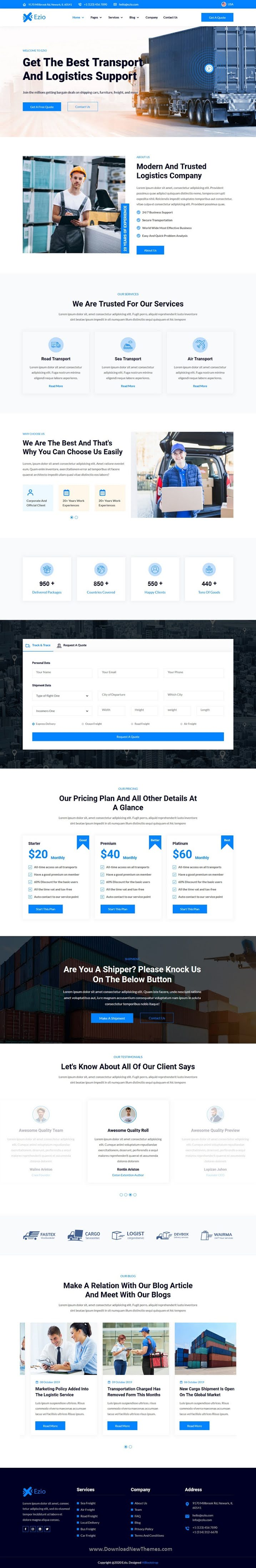 Transport & Logistics Company HTML Template
