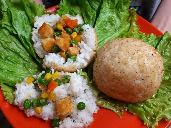 Resep Nasi Kepal Chicken Nugget So Good Ngumpet