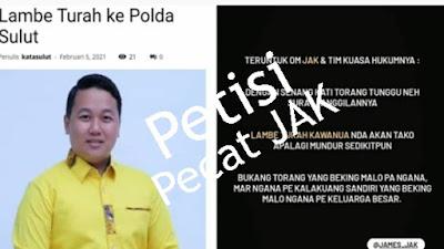 Petisi Pecat Wakil Ketua DPRD Sulut Viral di Sosial Media