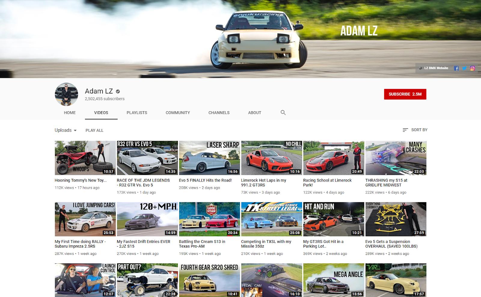 Adam LZ YouTube lzmfg .com