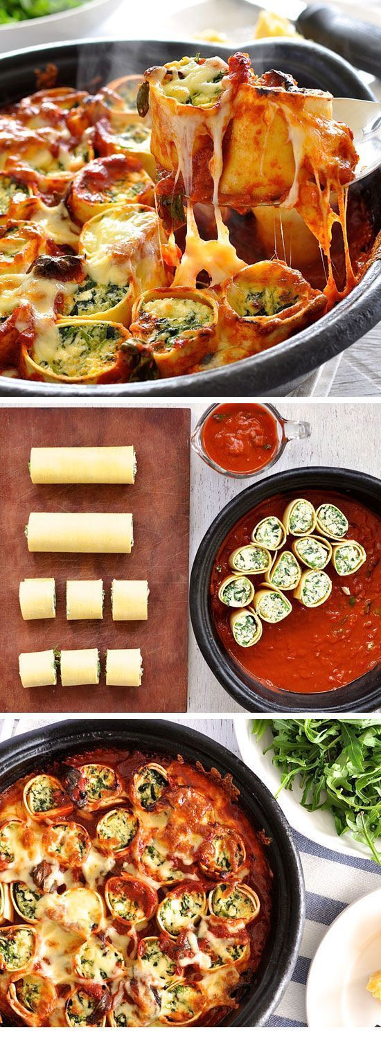 Baked Spinach and Ricotta Rotolo #DINNER #HEALTHY