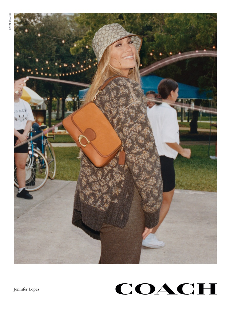 Jennifer Lopez stars in Coach fall 2021 campaign. Photo