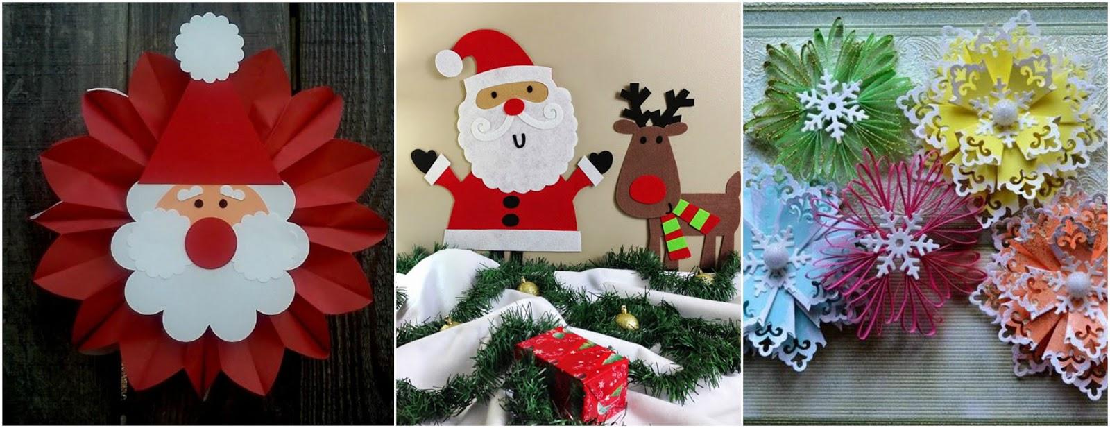 9 ideas para decorar en navidad con adornos de papel - Decoracion navidad papel ...