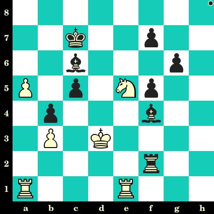 ❓ Test de niveau ★☆☆ sur Échecs et Stratégie. Les Noirs jouent et matent en 2 coups. Enrico Paoli vs Jan Foltys, Trencianske Teplice, 1949