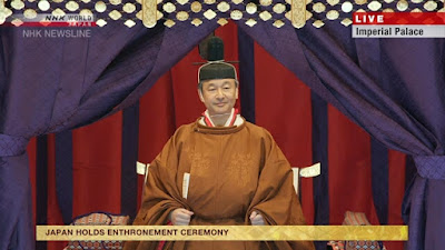 Emperor proclaims enthronement in a special ceremony