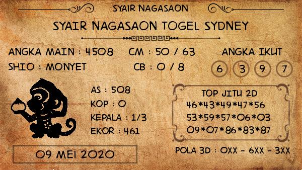 Prediksi Togel Sydney 09 Mei 2020 - Nagasaon Sydney