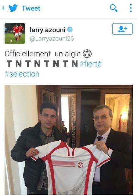 Larry Azouni devient officiellement un Aigle de Carthage sur Twitter