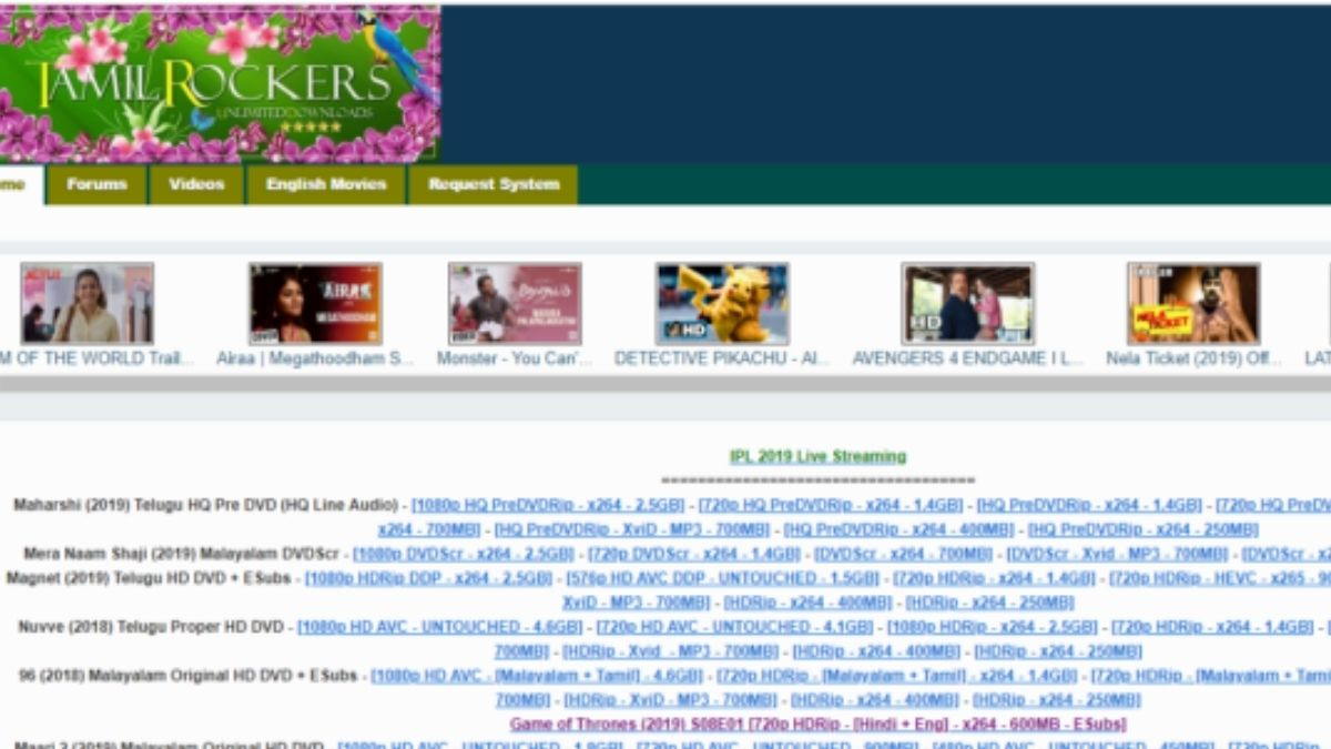 TamilRockers 2020: Tamilrockers Download Latest Tamil HD Movies Illegally, Tamilrockers.com Online Movies Website