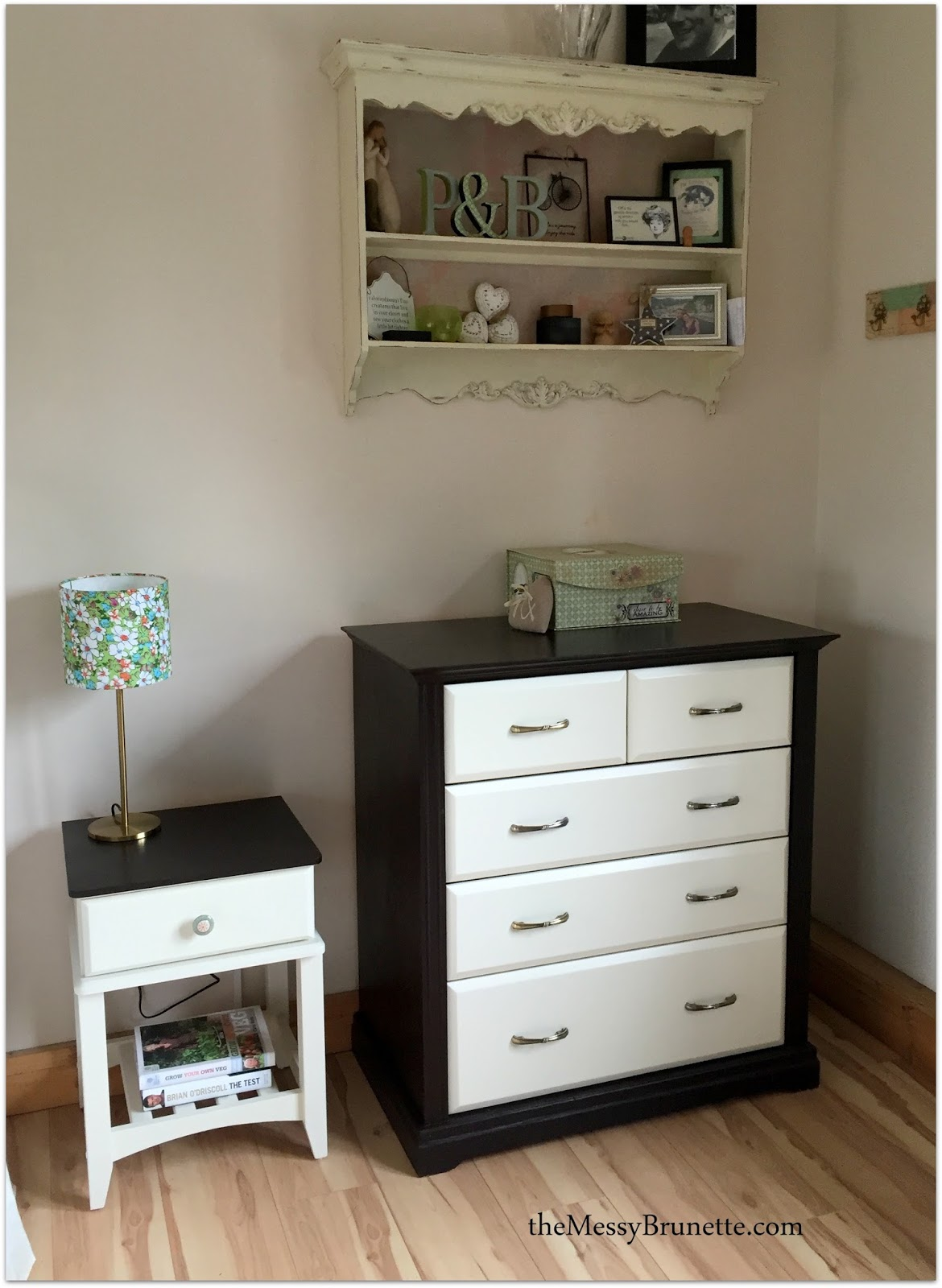 Upcycled bedside lockers and drawers