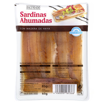 Sardinas ahumadas con madera de haya Hacendado