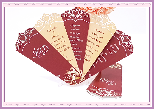 invitatie nunta evantai