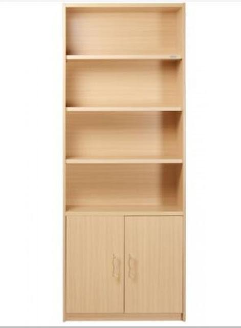 desain lemari rak buku minimalis
