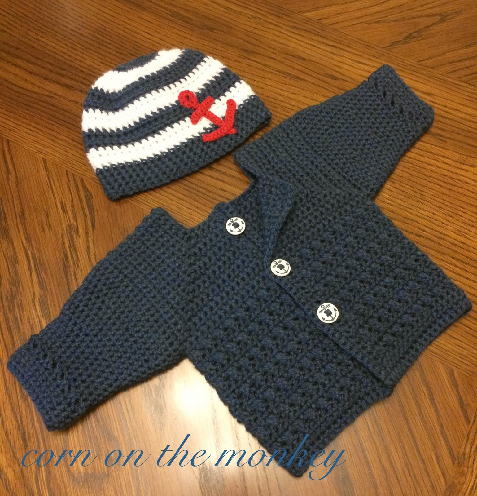 Boy Better Know Hat: Corn On The Monkey: Crochet Anchor Hat (FREE PATTERN) And