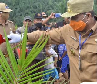 Bupati Batanghari Bersama  Gubernur Jambi Kunker ke Desa Karya Mukti