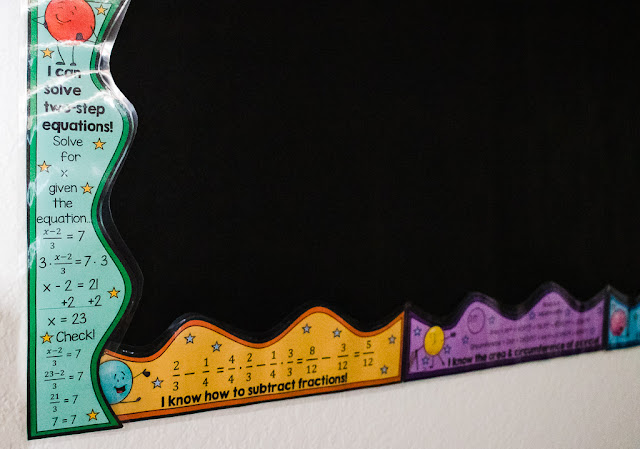 Math Bulletin Board Borders