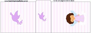 Brunette Angel Girl, Free Printable Tic Tac Labels.