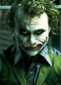 "Heath Ledger como ""Joker"""