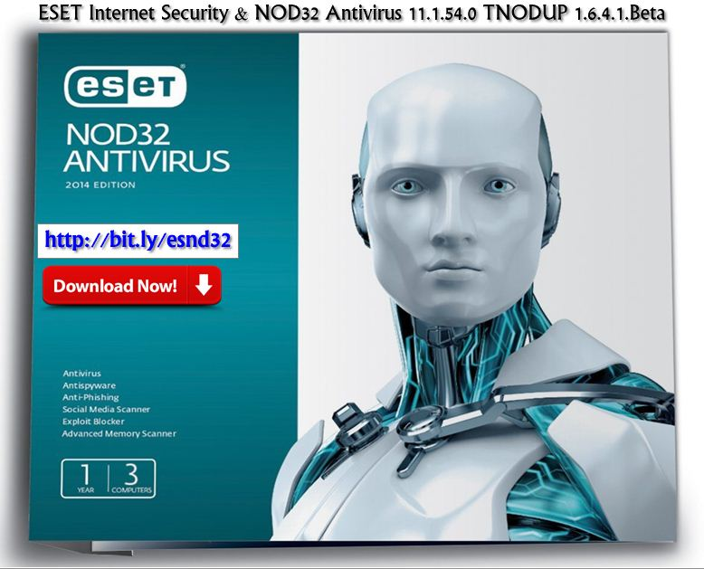 Eset internet security & nod32 antivirus 11. 1. 54. 0 tnodup 1. 6. 4. 1.