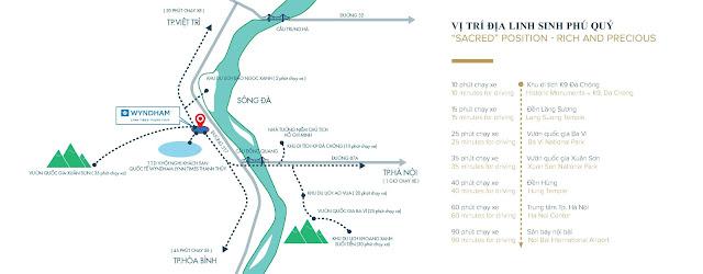 Vị trí Wyndham Lynn Times Thanh Thủy Hotels & Resorts dự án khu nghỉ dưỡng khoáng nóng 5 sao