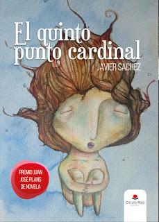 Portada del libro El quinto punto cardinal. Dibujo macabro de una niña hundiéndose en el agua.